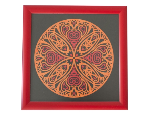 Mandala Tablo – Kırmızı