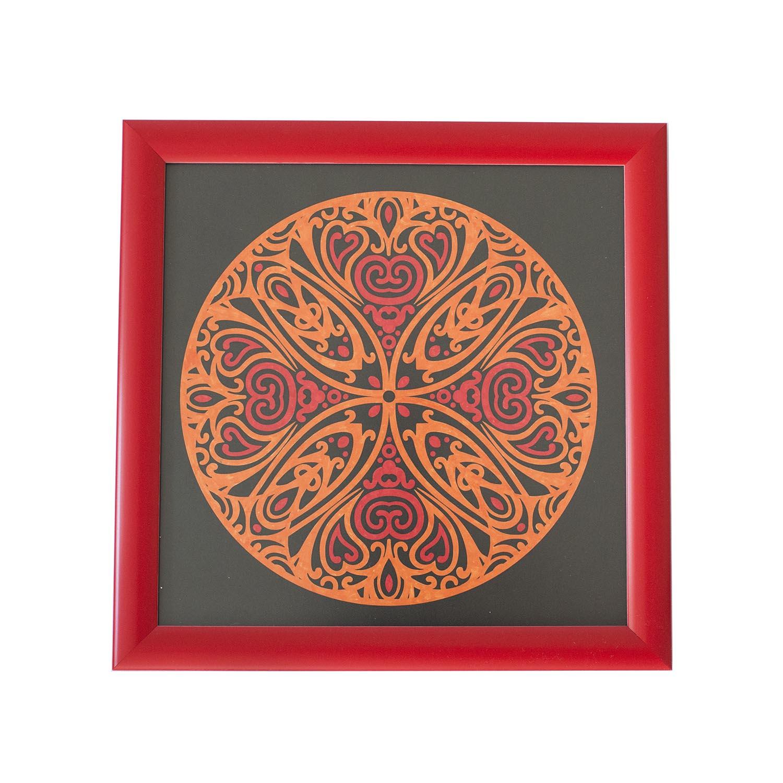 Mandala Tablo Kırmızı