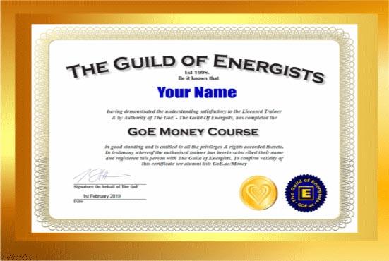 GoE Para Kursu Sertifikası